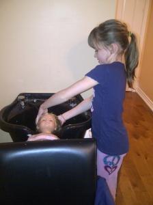 Hannah  - washing hair