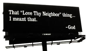 love your neighbour billboard