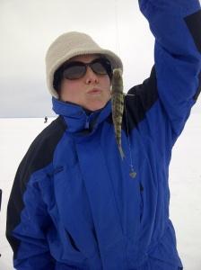 ice fishing - Danielle