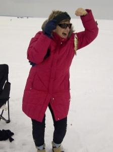 ice fishing - Diane