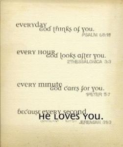 God's love for us 1