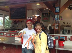 fresh Alaska crab - yummy!