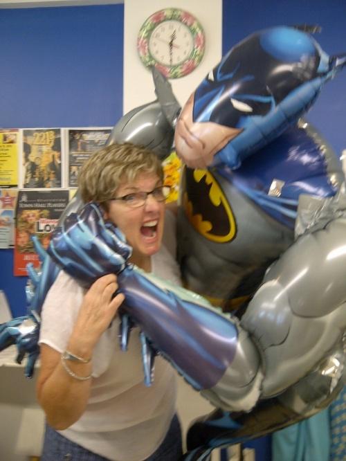 fighting with Batman