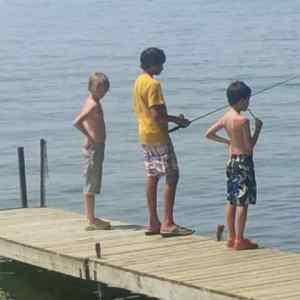 Phoenie Blog 1 3 boys on dock fishing