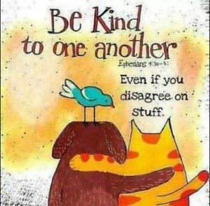 Be kind...even if you don't