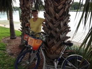 Miami - Diane with bikes