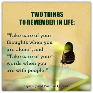 Two things to remember in life
