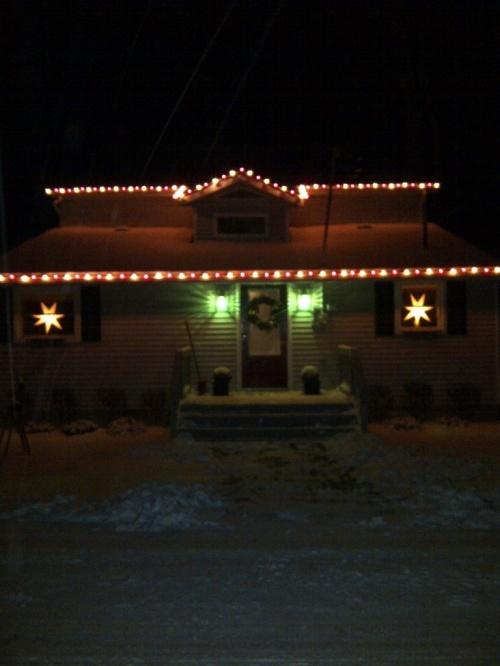 Christmas lights on our house 2013