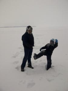 karate kicks on the ice
