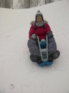 nana on my sled
