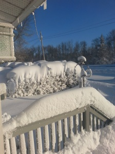 front deck in snow