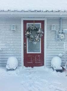 front door in snow 2