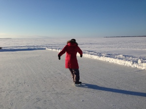 Diane on the ice - upright