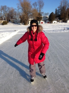 Diane on the skating rink 2