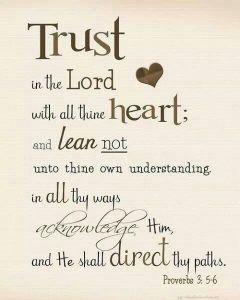 Proverbs 3.5,6