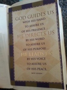 God guides us...