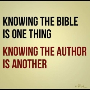 knowing the bible is one thing...