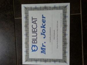 Blue Cat Mr. Joker award