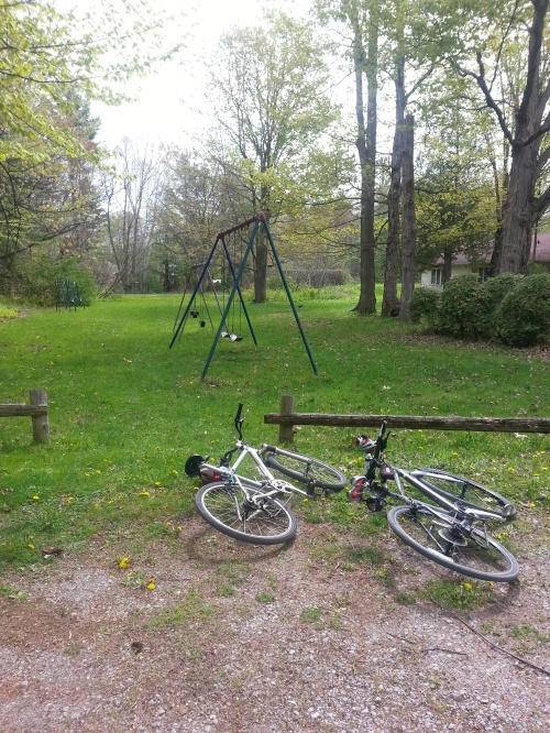 swings and bikes
